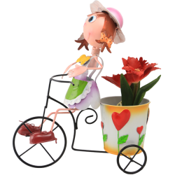 BIKE GIRL-FIOWER POT (2)